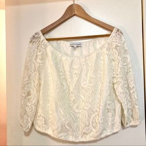 CUPCAKES AND CASHMERE white lace top